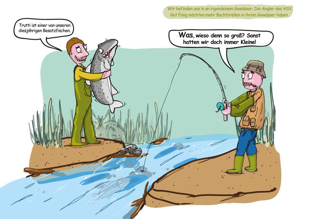 Angler mit großem Bestazfisch